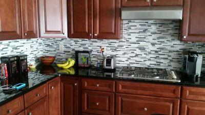 tile backsplash countertop