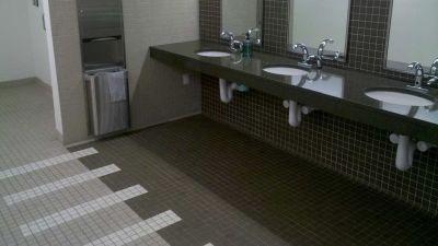 tile commercial restroom